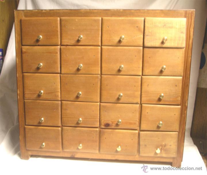 Mueble de comercio restaurado 20 cajones made comprar - Cajones de madera antiguos ...