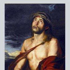 Antigüedades: AZULEJO 40X25 DE JESÚS ECCE HOMO. Lote 50617030