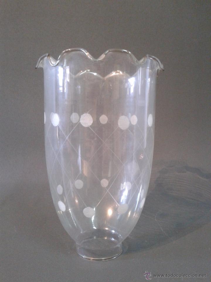 TULIPA DE CRISTAL (Antigüedades - Iluminación - Lámparas Antiguas)