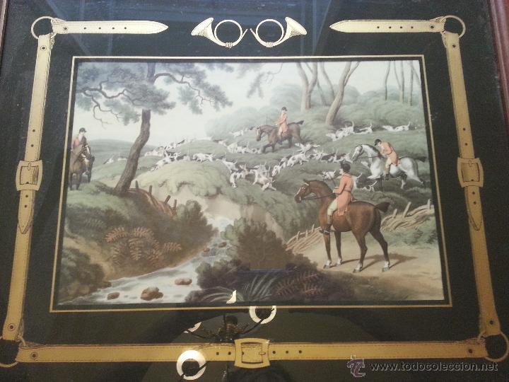 gran cuadro madera y cristal grabado dorado mot - Comprar Marcos ...