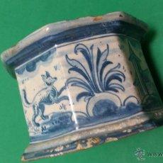 Antigüedades: ANTIGUO TINTERO OCTOGONAL EN AZUL POSIBLEMENTE DE TRIANA SX.VIII. Lote 50630624