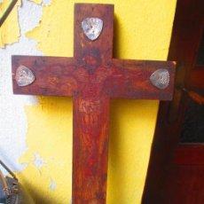 Antigüedades: ANTIGUA CRUZ CONVENTUAL CON EL CRISTO PINTADO. Lote 50637513