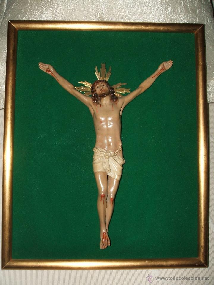 Antigüedades: SANTO CRISTO ENMARCADO. - Foto 3 - 50640244