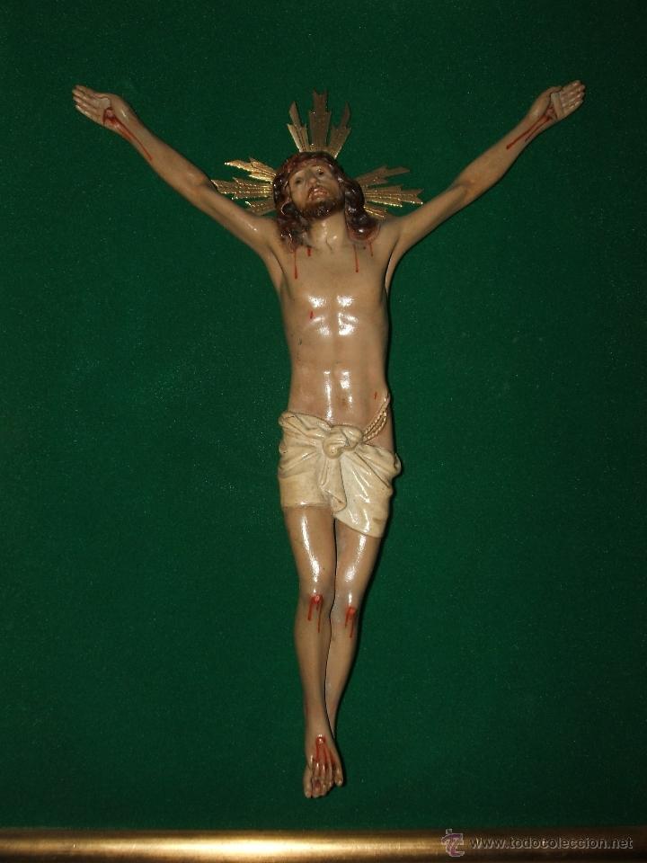 Antigüedades: SANTO CRISTO ENMARCADO. - Foto 5 - 50640244