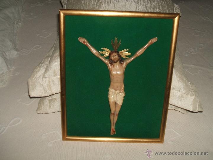 Antigüedades: SANTO CRISTO ENMARCADO. - Foto 6 - 50640244