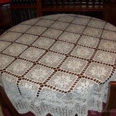 Antigüedades: ANTIGUO MANTEL- 165 CM DE DIAMETRO. Lote 50643926