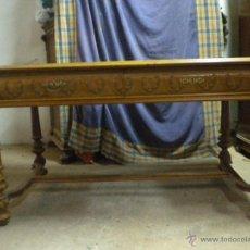 Antigüedades: MESA DE DESPACHO,DE NOGAL. MEDIDA 144X89 CM Y78 CM DE ALTURA. Lote 50650996