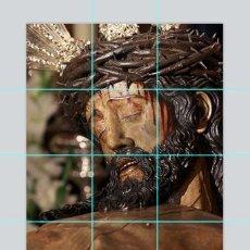 Antigüedades: RETABLO DE 12 AZULEJOS DE 10X10 DEL CRISTO DE LA CARRETERIA DE SEVILLA. Lote 50653460