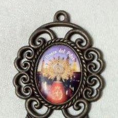 Antigüedades: PEQUEÑA BENDITERA VIRGEN DEL PILAR. Lote 50655204