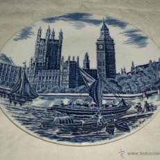 Antigüedades: PLATO PORCELANA INGLESA RECUERDO DE LONDRES BIN BENG. Lote 50661626
