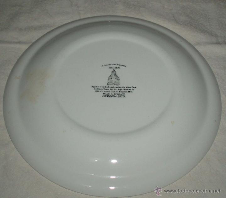 Antigüedades: plato porcelana inglesa recuerdo de londres Bin beng - Foto 2 - 50661626