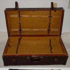 Antigüedades: MALETA BAÚL DE FUELLE. PIEL O CUERO. CON BANDEJA. ORIGINAL COMPLETA. PRINCIPIOS 1900. Lote 50663937