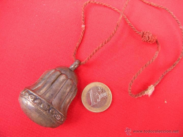 Antigüedades: ANTIGUO SONAJERO DE PLATA - Foto 3 - 50667013