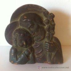 Antigüedades: TALLA SAN JOSE Y EL NIÑO ,PRINCIPIOS SIGLO PASADO. Lote 50682065
