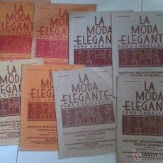 Antigüedades: LA MODA ELEGANTE PARA CABALLEROS. 9 NÚMEROS, AÑO 1929, 1930 Y 1931. Lote 50683079