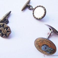 Antigüedades: DESPIECE DE TRES CURIOSOS GEMELOS PARA COLECCIONISTA. Lote 50685639