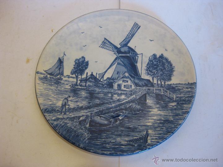 PLATO DE CERÁMICA HOLANDÉS. (Antigüedades - Porcelana y Cerámica - Holandesa - Delft)