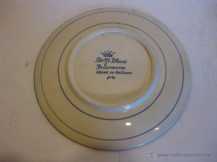 Antigüedades: Plato de cerámica Holandés. - Foto 2 - 50700062