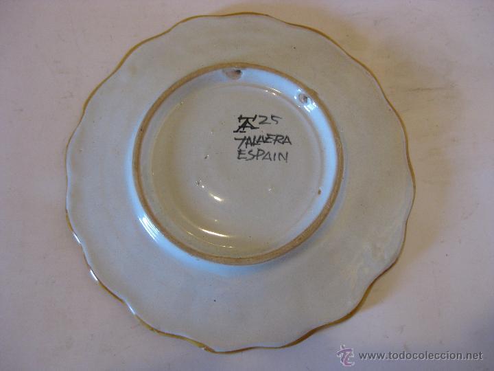 Antigüedades: Plato de cerámica de Talavera - Foto 2 - 50700293