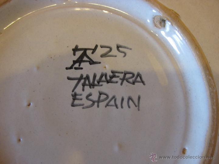 Antigüedades: Plato de cerámica de Talavera - Foto 3 - 50700293