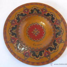Antigüedades: PLATO DE MADERA DE RUMANIA. Lote 50701146