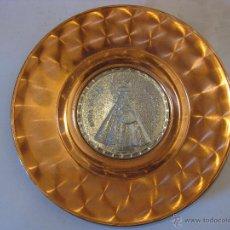 Antigüedades: PLATO DE COBRE NUESTRA SEÑORA DE GUADALUPE.. Lote 50703883