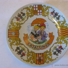 Antigüedades: PLATO DE CERÁMICA POPULAR CATALANA. Lote 50704162