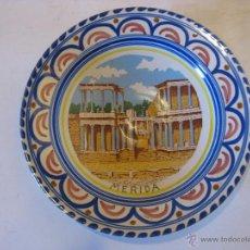 Antigüedades: PLATO DE CERÁMICA ESMALTADA DE MERIDA.. Lote 50704210