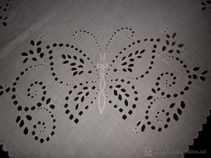 Antigüedades: Antiguo mantel bordado. - Foto 5 - 50711286