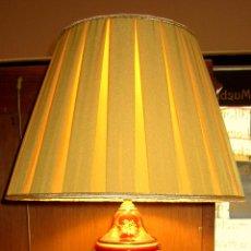 Antigüedades: SOBERBIA LAMPARA PINTADA A MANO. Lote 50711548