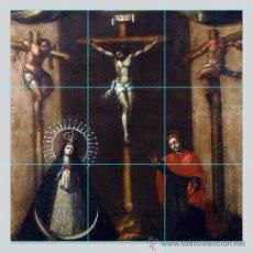 Antigüedades: PRECIOSO RETABLO 9 AZULEJOS 10X10 CTM QUE ILUSTRA EL CALVARIO DE CRISTO.. Lote 50713181