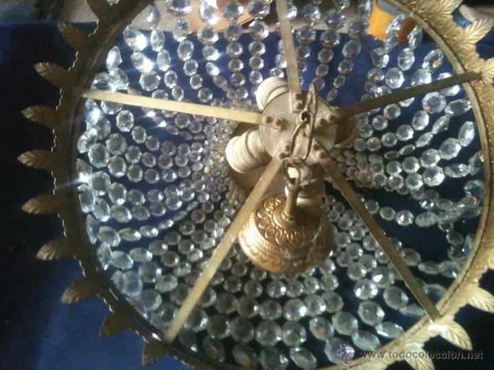LAMPARA DE CUENTAS DE CRISTAL (Antigüedades - Iluminación - Lámparas Antiguas)