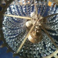 Antigüedades: LAMPARA DE CUENTAS DE CRISTAL. Lote 50713202