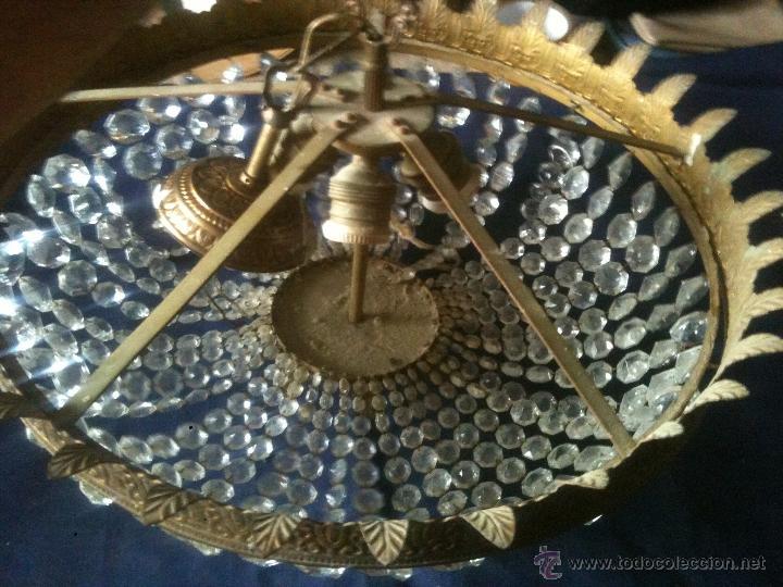Antigüedades: LAMPARA DE CUENTAS DE CRISTAL - Foto 2 - 50713202