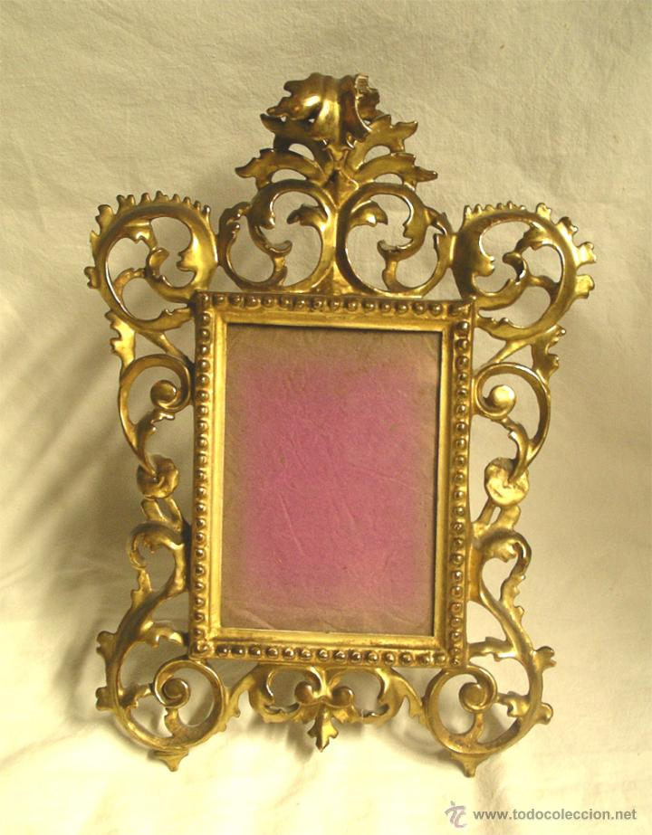 marco portaretratos talla madera dorado pan de - Comprar Marcos ...