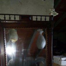 Antigüedades: ANTIGUO Y ESPECTACULAR ESPEJO.. Lote 50717082