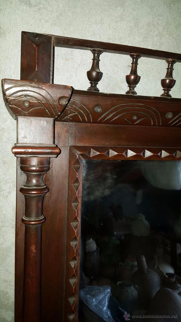 Antigüedades: antiguo y espectacular espejo. - Foto 4 - 50717082