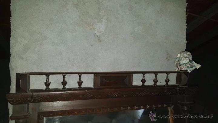 Antigüedades: antiguo y espectacular espejo. - Foto 6 - 50717082
