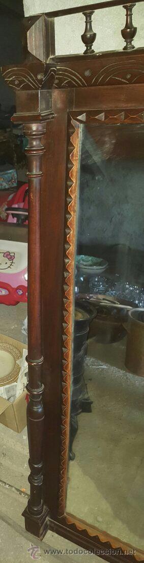 Antigüedades: antiguo y espectacular espejo. - Foto 7 - 50717082