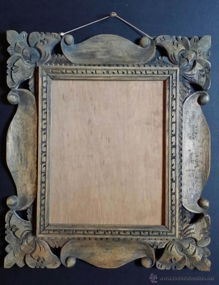marco tallado a mano / isla de java - Comprar Marcos Antiguos de ...