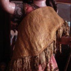Antigüedades: MANTO PARA IMAGEN CON PASAMANERIA METALICA. Lote 50736766