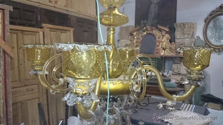 LAMPARA DE TECHO DE CRISTAL MALLORQUIN (VER FOTOS) CAN GORDIOLA (Antigüedades - Cristal y Vidrio - Mallorquín)