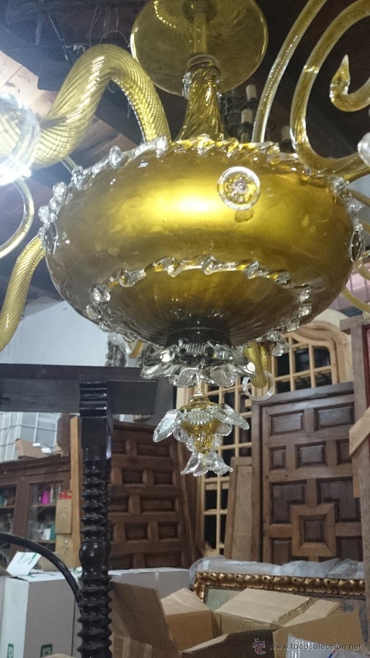 Antigüedades: LAMPARA DE TECHO DE CRISTAL MALLORQUIN (ver fotos) CAN GORDIOLA - Foto 2 - 50740802