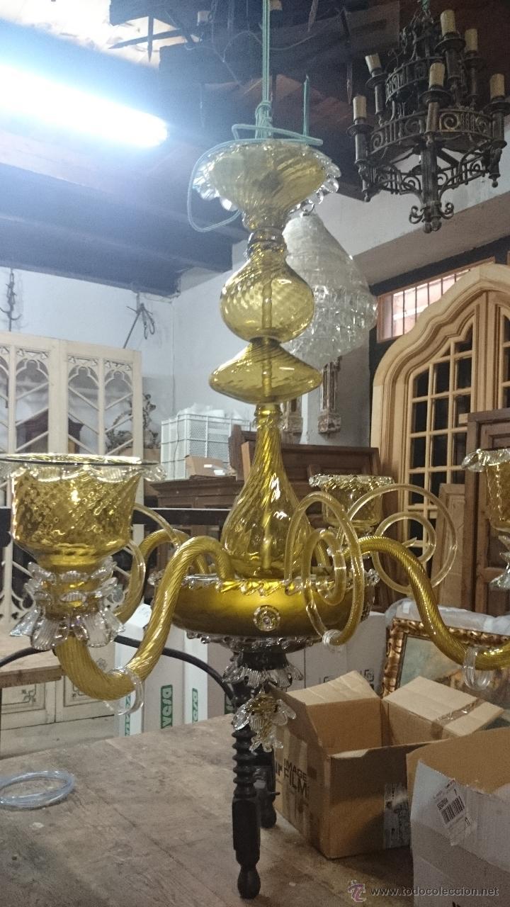 Antigüedades: LAMPARA DE TECHO DE CRISTAL MALLORQUIN (ver fotos) CAN GORDIOLA - Foto 3 - 50740802