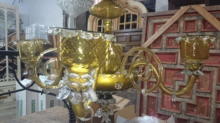 Antigüedades: LAMPARA DE TECHO DE CRISTAL MALLORQUIN (ver fotos) CAN GORDIOLA - Foto 5 - 50740802