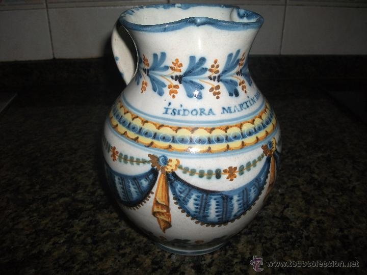 JARRA DE TALAVERA S.XIX (Antigüedades - Porcelanas y Cerámicas - Talavera)