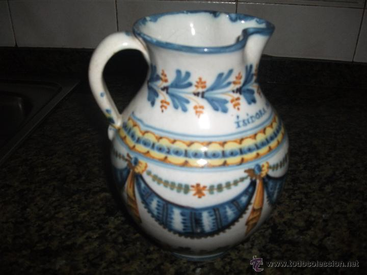 Antigüedades: Jarra de Talavera S.XIX - Foto 2 - 50743196