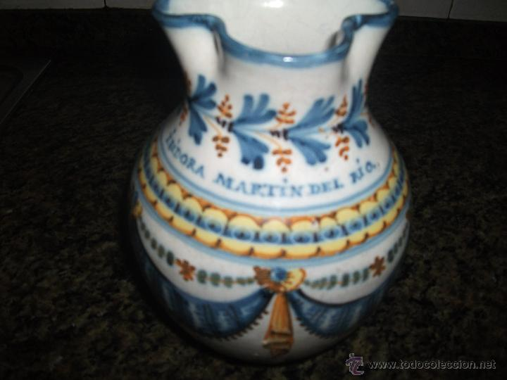 Antigüedades: Jarra de Talavera S.XIX - Foto 3 - 50743196