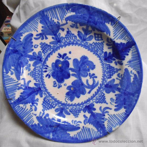 Antiguo plato de cer mica manises decorado comprar for Platos de ceramica