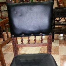 Antigüedades: SILLA DE MADERA DE ROBLE TALLADA. Lote 50744284